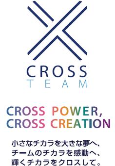 CROSS TEAM CROSS POWER,CROSS CREATION 小さなチカラを大きな夢へ、チームのチカラを感動へ、輝くチカラをクロスして。