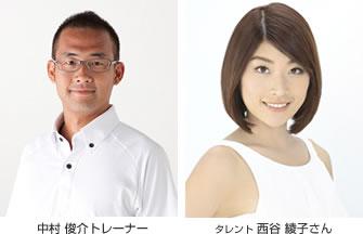 中村俊介トレーナーとタレントの西谷綾子さん